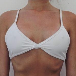Lumahai swimwear white bikini mesh top